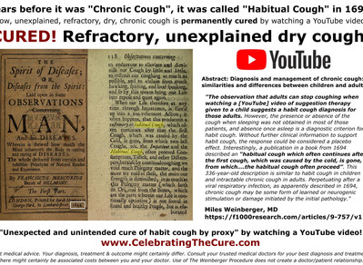 Before it was called Chronic Cough, it was known as Habitual Cough in 1694.