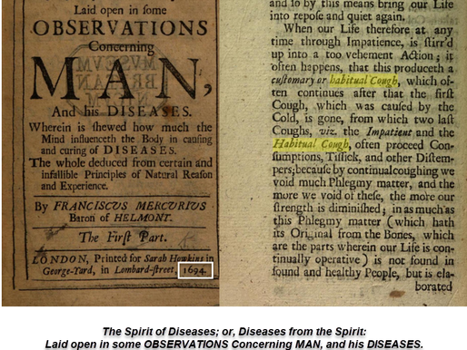 Since 1694 - Habitual Cough; acute and chronic, same diagnosis then and now. Amazing. Now cured!