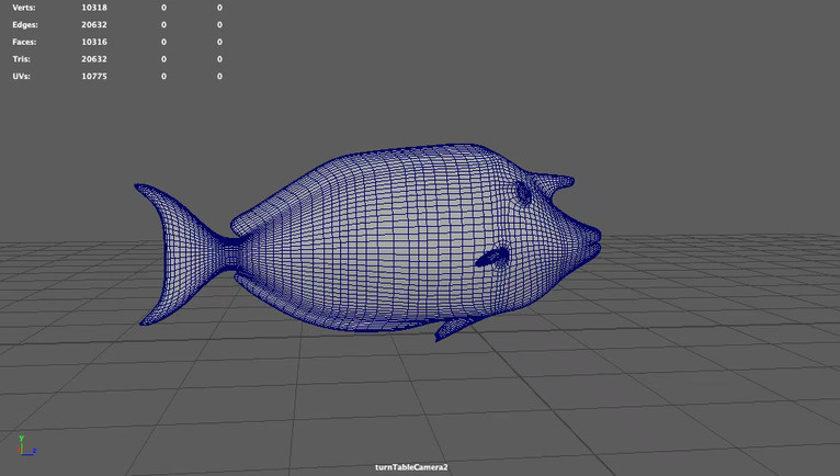 Fish Low Poly Count