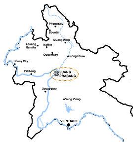 Map of Laos, Travel Agency, Adventures in Laos, ORLA TOURS Luang Prabang