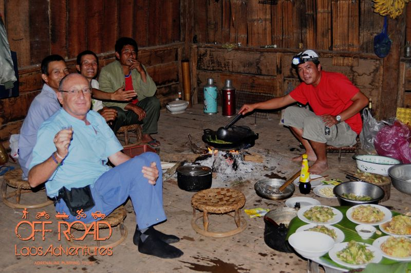 homestay laos, accommodation laos, night in village