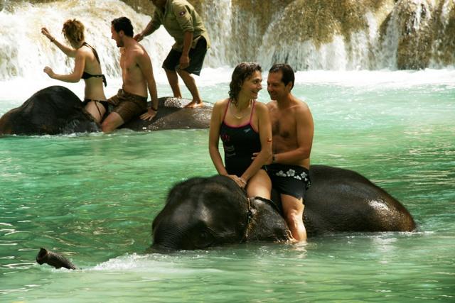 cascade, tad sae, luang prabang, elephant, voyage famille, laos