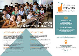 Brochure, advert, Enfants du Laos, human