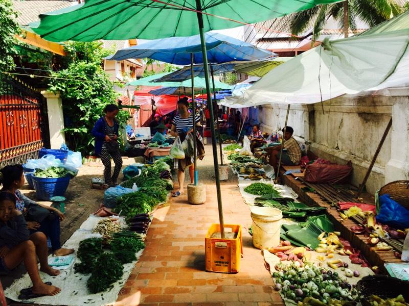 luang prabang, local market