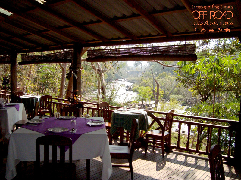 local guesthouse countryside laos - restaurant