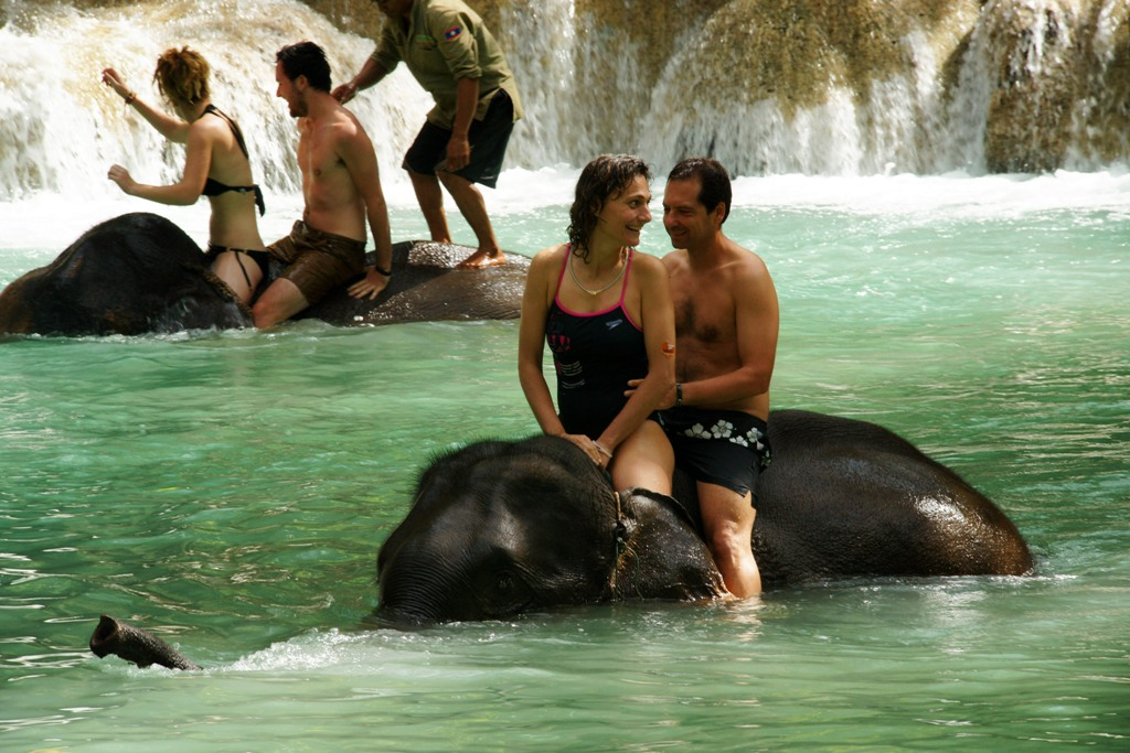 Tadsae waterfalls, luang prabang, laos