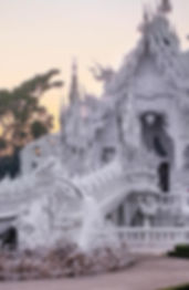 Temple blanc, Chiang Mai, Thaïlande - OR
