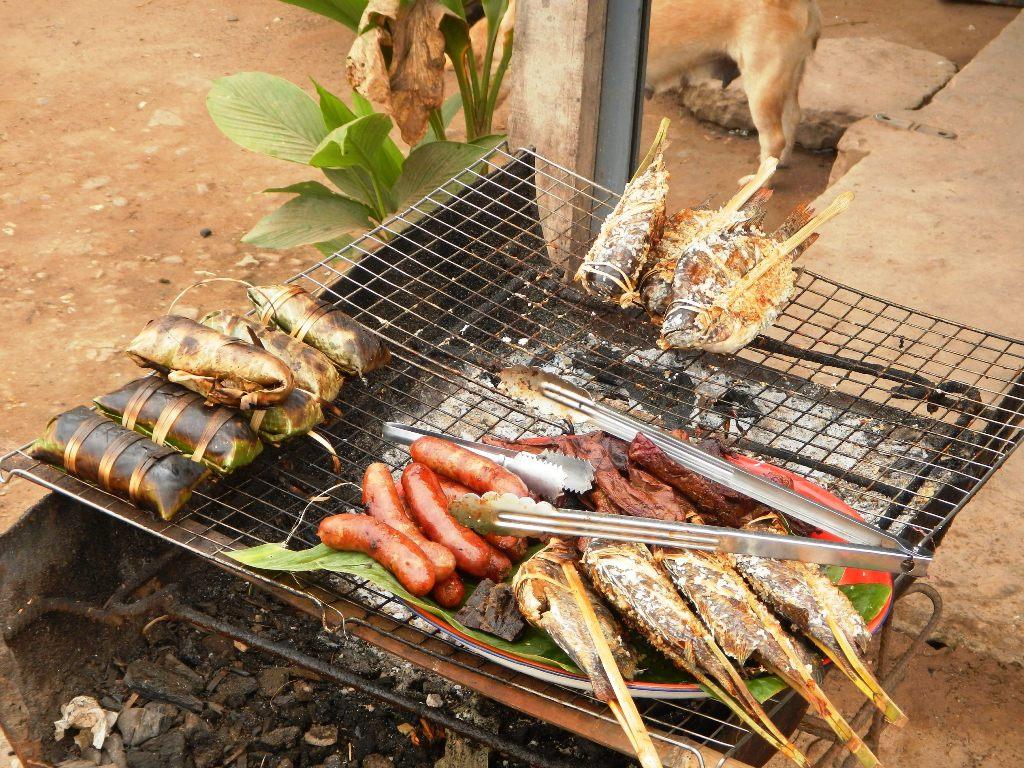 laos, luang prabang, street food, BBQ