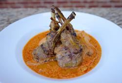 Grilled Lamb Chop in Massamun Sauce