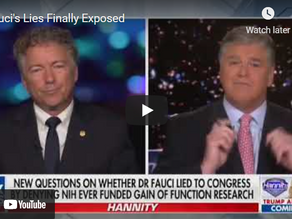 """Video: Rand Paul Calls For """"Five Years In Jail"""" For Fauci Lying To Congress"""