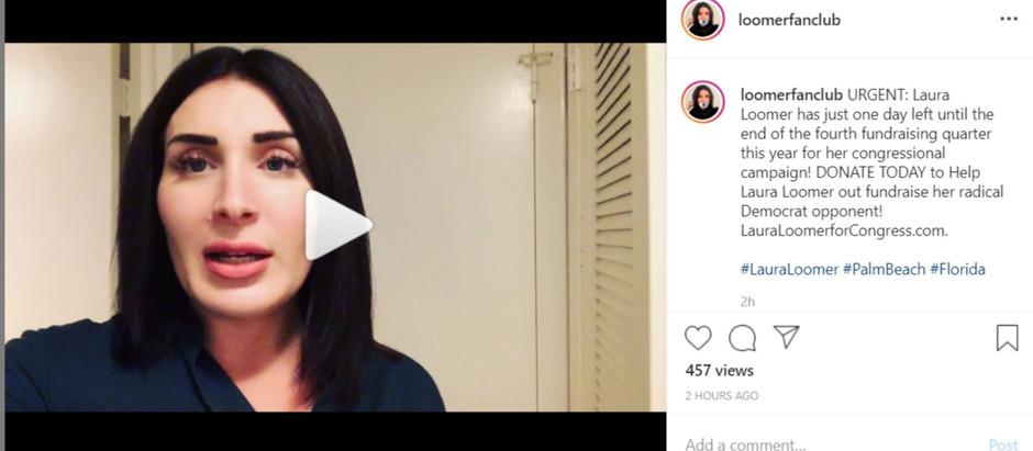 Thank You! Laura Loomer Fan Club Instagram Hits 7500 Followers