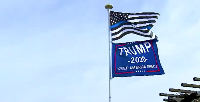 """City Orders Woman To Stop Flying """"Trump 2020"""" Flag"""