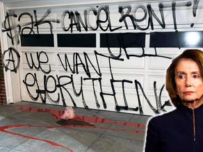 "Pelosi's San Fran Estate Vandalized with Leftist Graffiti, Severed Pig Head: ""CANCEL RENT…"