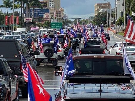 Miami PD Estimates More Than 30,000 Cars Participated in Anti-Communist, Latinos For Trump Caravan