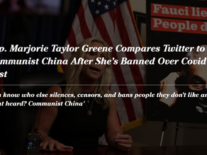 Rep. Marjorie Taylor Greene Compares Twitter to Communist China After She's Banned Over Covid Post