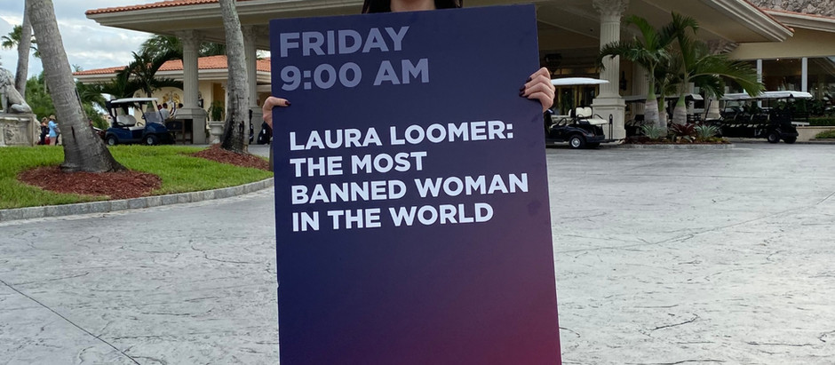 "New ""Loomers Law"" Legislation Inspired By Laura Loomer  'The Most Banned Women In The World'"