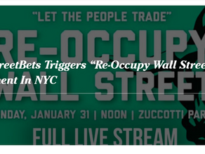 """WallStreetBets Triggers """"Re-Occupy Wall Street"""" Movement In NYC"""