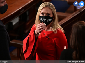 """GOP Rep Wears """"Trump Won"""" Mask To Swearing-In Ceremony"""