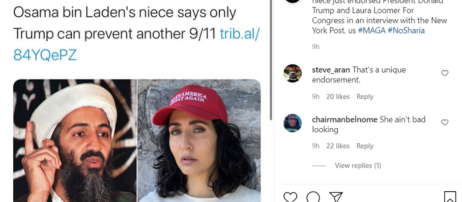 Osama bin Laden's niece says only Trump can prevent another 9/11- Endorses Trump and Loomer