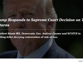 Trump Responds to Supreme Court Decision on Tax Returns