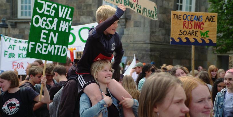 Aslaug og Arve til klimademonstration