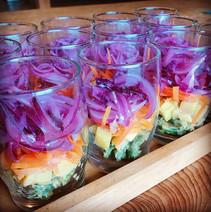 rainbow salad in a glass!_#るんた #里山ごはん #v