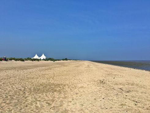 Strand in Schillig im Wangerland an der Nordsee