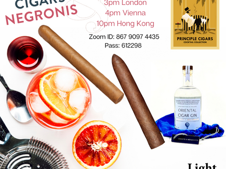 Cigars and Negronis: The Zoom Event.