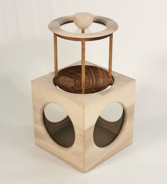 Trüffelbox aus Eschenholz