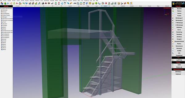 CAD_Pytha_Treppe_Raumspartreppe mit Schr