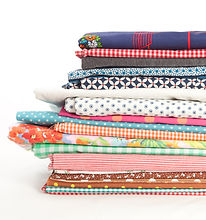 Stack of fabric.