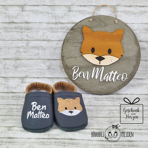 Geschenkset Baby-Fuchs