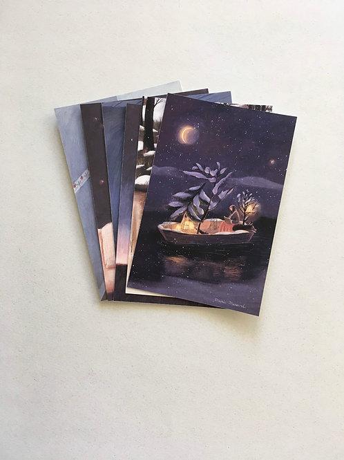 Six cards - prints