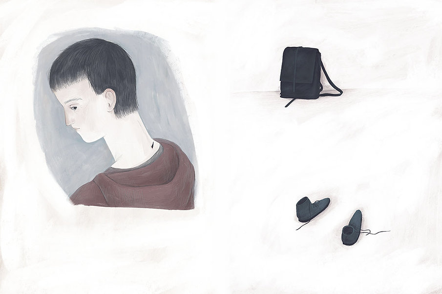 Sadness picturebook, story and illustrations by Marie Muravski