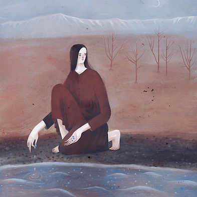 Time to gather stones - silent book, illustrations by Marie Muravski