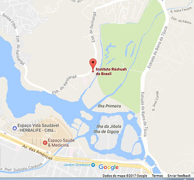 Mapa como chegar ao Instituto Ráshuah Barra da Tijuca