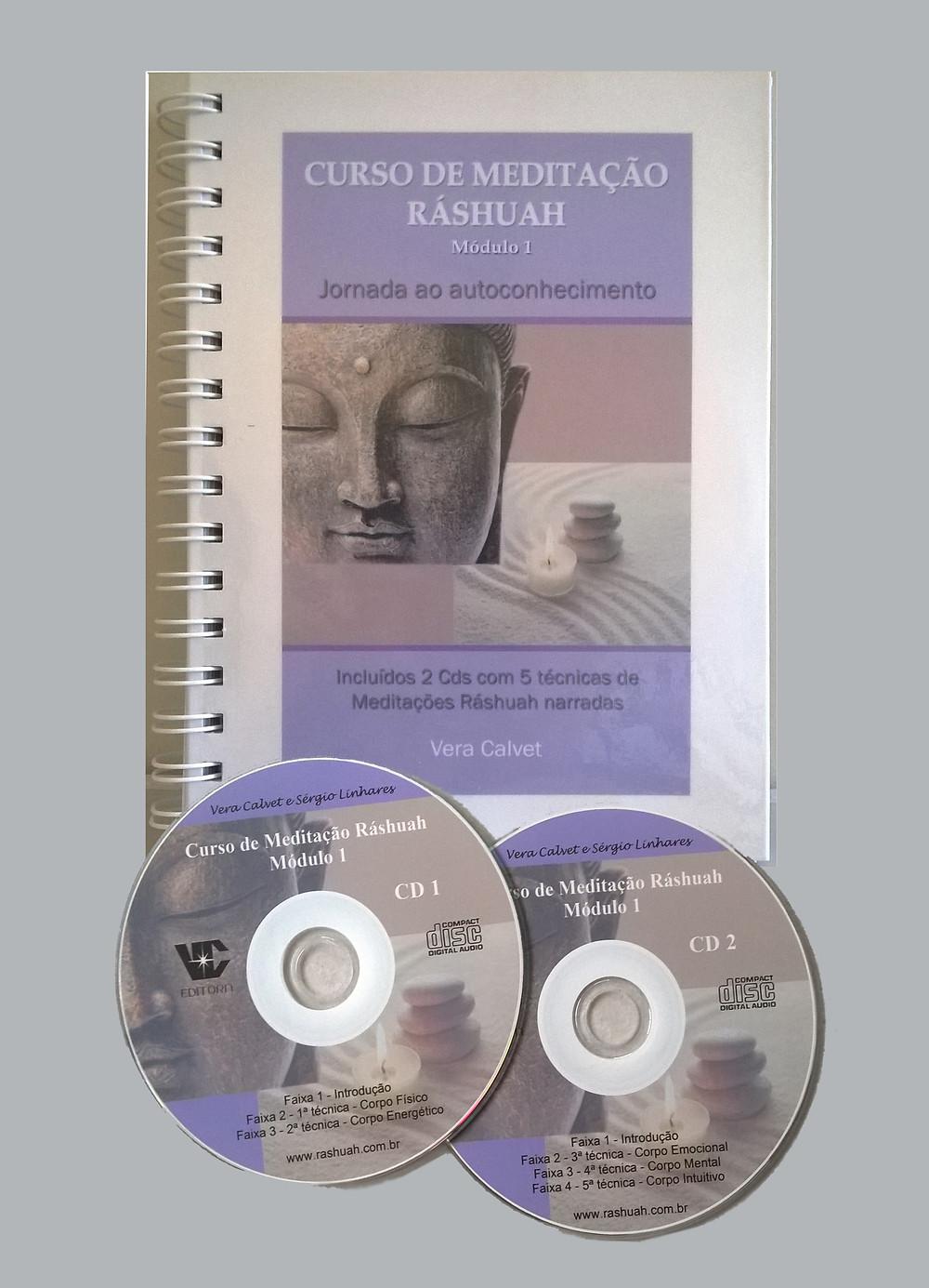 Livro Curso de Meditação Ráshuah + 2CDs