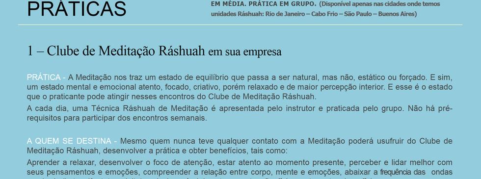 Clube de Meditação Ráshuah