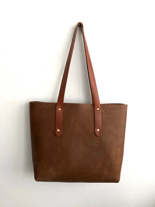 brown CARRIE TOTE