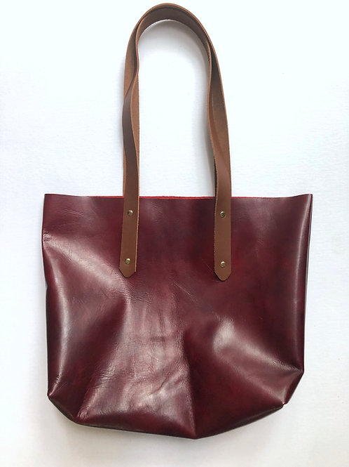 soft burgundy CARRIE TOTE