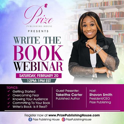 Write the Book Webinar