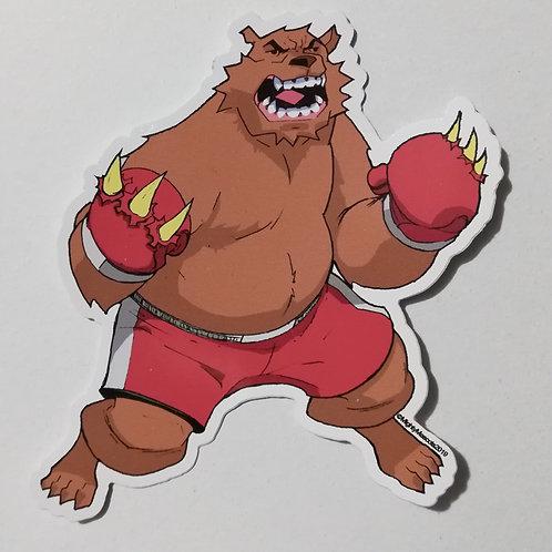 "Mighty Mascots ""Boxer Bear"" Sticker"