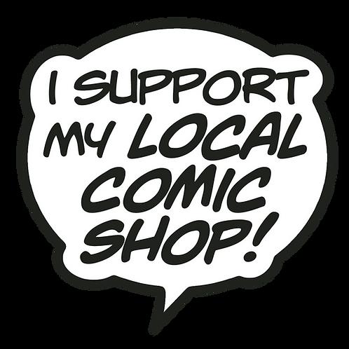 Comic Shop Vinyl Sticker