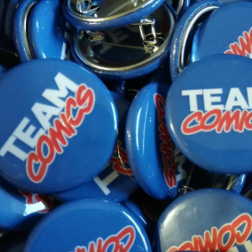 """Team Comics"" Pin"