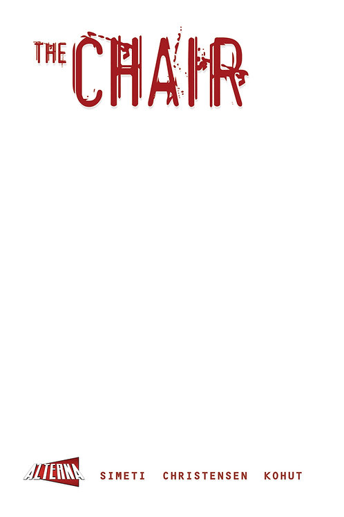 The Chair #1 Blank Cover Variant