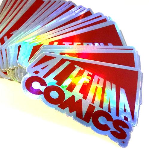 "Alterna Comics 4"" Holofoil Sticker"