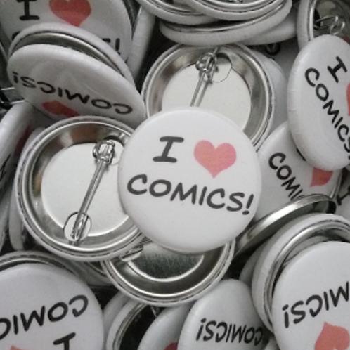 """""""I Love Comics"""" Pin"""