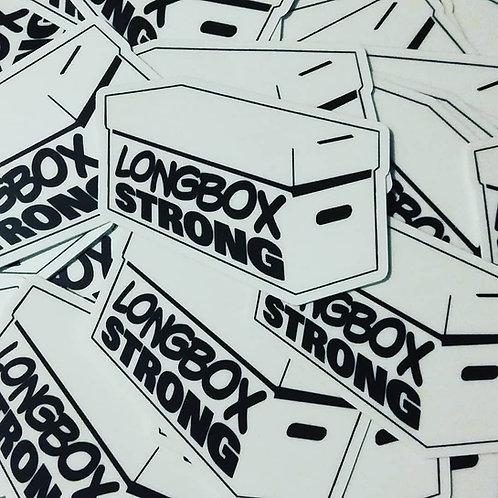 """Longbox Strong"" Sticker"