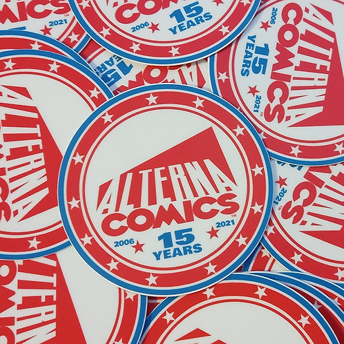 """15 Years of Alterna"" Sticker"