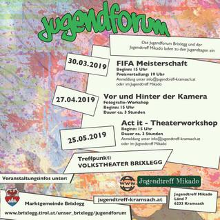 Einladung zum Jugendforum in Brixlegg